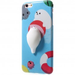 """Squezy"" Sea Lion kieto silikono (TPU) dėklas - mėlynas (iPhone 6 / 6S)"
