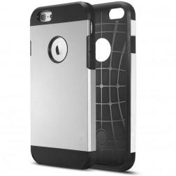 Sustiprintos apsaugos dėklas - sidabrinis (iPhone 6 / 6s)