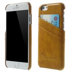Odinis dėklas su kortelių laikikliu - šviesiai rudas (iPhone 6 / 6s)