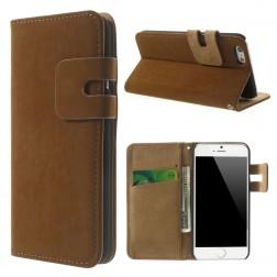 Verstos odos atverčiamas dėklas - rudas (iPhone 6 / 6s)