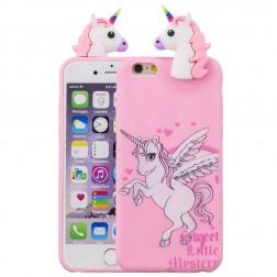"""""""Squezy"""" Unicorn kieto silikono (TPU) dėklas - rožinis (iPhone 6 / 6S)"""