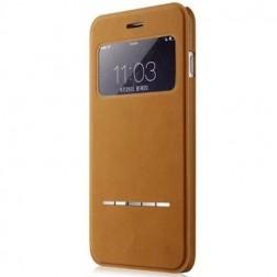 """""""Vili"""" S View Cover atverčiamas dėklas - rudas (iPhone 6 / 6s)"""