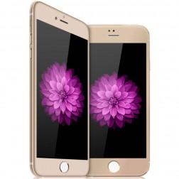 """""""Devia"""" 9H Tempered Glass apsauginis ekrano stiklas 0.33 mm - auksinis + nugarėlės plėvelė (iPhone 6 / 6S)"""