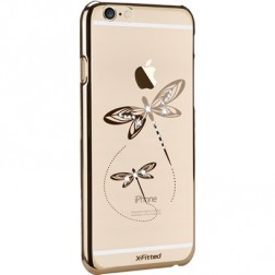 """X-Fitted"" Dragonfly Swarovski dėklas - auksinis (iPhone 6 / 6S)"