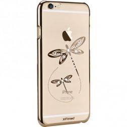 """X-Fitted"" Dragonfly Swarovski dėklas - auksinis (iPhone 6 / 6S)"