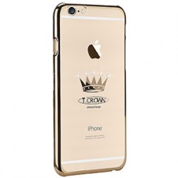 """X-Fitted"" Crown Swarovski dėklas - auksinis (iPhone 6 / 6S)"