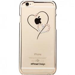 """""""X-Fitted"""" Telesthesia Swarovski dėklas - auksinis (iPhone 6 / 6S)"""