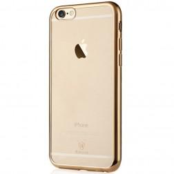 """""""Baseus"""" Shining dėklas - skaidrus, auksinis (iPhone 6 / 6S)"""