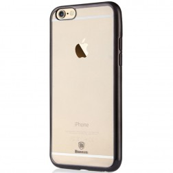"""""""Baseus"""" Shining dėklas - skaidrus, juodas (iPhone 6 / 6S)"""