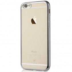 """""""Baseus"""" Shining dėklas - skaidrus, sidabrinis (iPhone 6 / 6S)"""