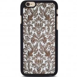 """""""Crafted Cover"""" natūralaus medžio dėklas - Gėlynas (iPhone 6 / 6s)"""