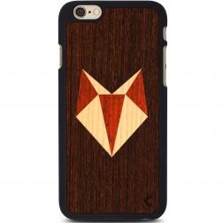 """""""Crafted Cover"""" natūralaus medžio dėklas - Lapė (iPhone 6 / 6s)"""