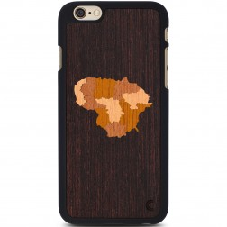 """""""Crafted Cover"""" natūralaus medžio dėklas - Lietuva (iPhone 6 / 6s)"""
