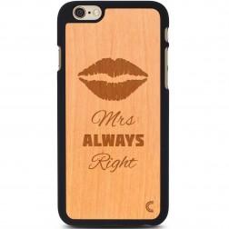"""""""Crafted Cover"""" natūralaus medžio dėklas - Mrs Always Right (iPhone 6 / 6s)"""