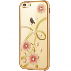 """JLW"" Charming Orchid silikoninis (TPU) dėklas - skaidrus (iPhone 6 / 6s)"