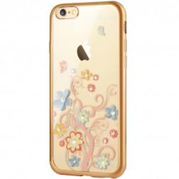 """""""JLW"""" Colorful Florets silikoninis (TPU) dėklas - skaidrus (iPhone 6 / 6s)"""