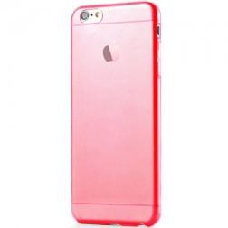 Ploniausias TPU skaidrus dėklas - raudonas (iPhone 6 Plus / 6S Plus)