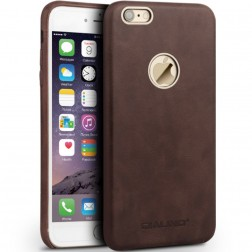 """QIALINO"" Slim Leather dėklas - tamsiai rudas (iPhone 6 / 6S)"