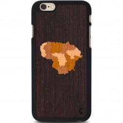 """""""Crafted Cover"""" natūralaus medžio dėklas - Lietuva (iPhone 6 Plus / 6s Plus)"""