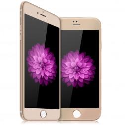"""""""Devia"""" 9H Tempered Glass apsauginis ekrano stiklas 0.33 mm - auksinis + nugarėlės plėvelė (iPhone 6 Plus / 6s Plus)"""