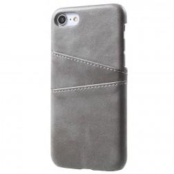 Odinis dėklas su kortelių laikikliu - pilkas (iPhone 7 / 8 / SE 2020)