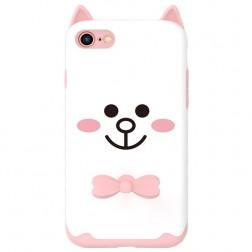 """""""Kingxbar"""" Cat kieto silikono (TPU) dėklas - baltas (iPhone 7 / 8 / SE 2020)"""