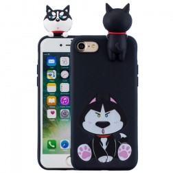 """""""Squezy"""" Dog kieto silikono (TPU) dėklas - juodas (iPhone 7 / 8 / SE 2020)"""