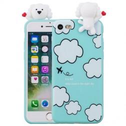 """""""Squezy"""" Dog kieto silikono (TPU) dėklas - mėtinis (iPhone 7 / 8 / SE 2020)"""