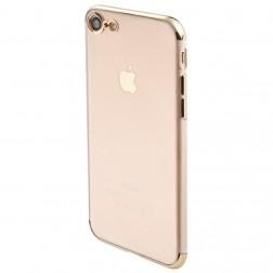 """""""Sulada"""" kieto silikono (TPU) dėklas - skaidrus, auksinis (iPhone 7 / 8 / SE 2020)"""