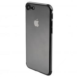 """""""Sulada"""" kieto silikono (TPU) dėklas - skaidrus, juodas (iPhone 7 / 8 / SE 2020)"""