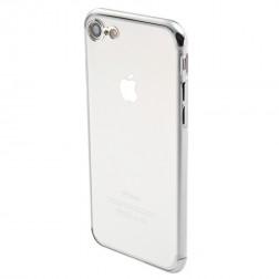 """""""Sulada"""" kieto silikono (TPU) dėklas - skaidrus, sidabrinis  (iPhone 7 / 8 / SE 2020)"""