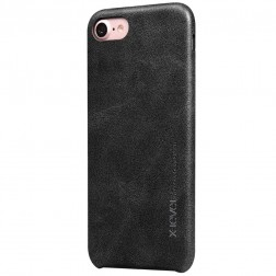 """""""X-Level"""" Vintage dėklas - juodas (iPhone 7 / 8 / SE 2020)"""