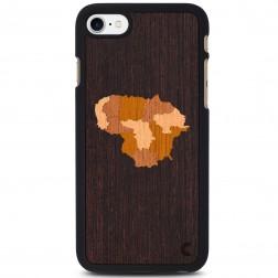"""""""Crafted Cover"""" natūralaus medžio dėklas - Lietuva (iPhone 7 / 8)"""
