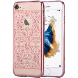 """""""Devia"""" Baroque Swarovski dėklas - rožinis (iPhone 7 / 8)"""