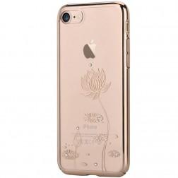 """""""Devia"""" Lotus Swarovski dėklas - auksinis (iPhone 7 / 8)"""