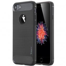 """""""IPAKY FASHION"""" kieto silikono (TPU) dėklas - juodas (iPhone 7 / 8)"""