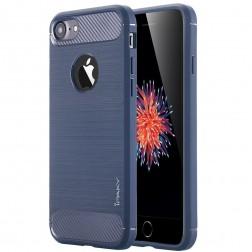 """""""IPAKY FASHION"""" kieto silikono (TPU) dėklas - tamsiai mėlynas (iPhone 7 / 8)"""