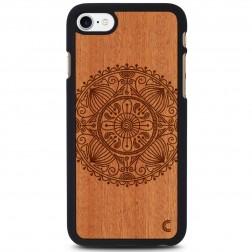 """""""Crafted Cover"""" natūralaus medžio dėklas - Mandala (iPhone 7 / 8)"""