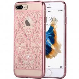 """""""Devia"""" Baroque Swarovski dėklas - rožinis (iPhone 7 Plus / 8 Plus)"""