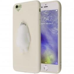 """""""Squezy"""" Polar Bear kieto silikono (TPU) dėklas - baltas (iPhone 6 Plus)"""