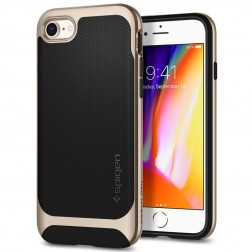 """Spigen"" Neo Hybrid Herringbone dėklas - auksinis (iPhone 7 / 8)"
