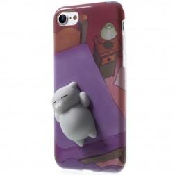 """""""Squezy"""" Cat kieto silikono (TPU) dėklas - violetinis (iPhone 7 / 8)"""