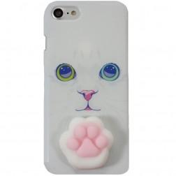 """""""Squezy"""" Pėdutė kieto silikono (TPU) dėklas - baltas (iPhone 7)"""