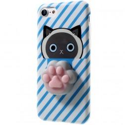 """""""Squezy"""" Pėdutė kieto silikono (TPU) dėklas - mėlynas (iPhone 7 / 8)"""