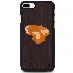 """""""Crafted Cover"""" natūralaus medžio dėklas - Lietuva (iPhone 7 Plus)"""