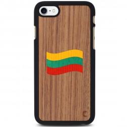 """""""Crafted Cover"""" natūralaus medžio dėklas - Lietuvos vėliava (iPhone 7 / 8)"""