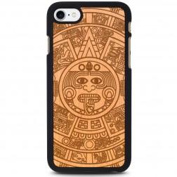 """""""Crafted Cover"""" natūralaus medžio dėklas - Majų kalendorius (iPhone 7 / 8)"""