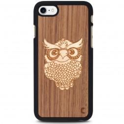 """""""Crafted Cover"""" natūralaus medžio dėklas - Pelėda (iPhone 7 / 8)"""