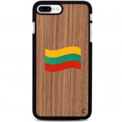 """""""Crafted Cover"""" natūralaus medžio dėklas - Lietuvos vėliava (iPhone 7 Plus / 8 Plus)"""