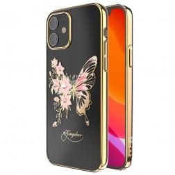 """""""Kingxbar"""" Wings Swarovski dėklas - auksinis (iPhone 12 Mini)"""